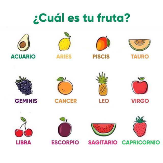 Un mundo de posibilidades como la 🥑. La frutillita del postre? 😙🍓Dulce y extravagante como las uvas 🍇? Y VOS QUE SIGNO FRUTA SOS? NO TE OLVIDES DE COMER FRUTAS!!!